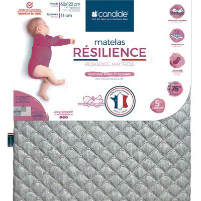 Matelas de lit bébé Résilience déhoussable (120 x 60 cm)  par Candide