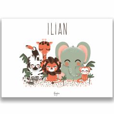 Affiche A3 Les Animignons de la jungle (personnalisable)