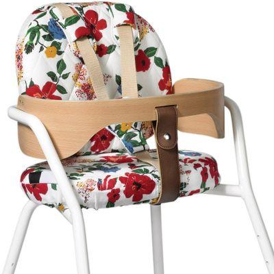 Coussins pour chaise haute Tibu Hibiscus Le Petit Lucas du Tertre  par Charlie Crane