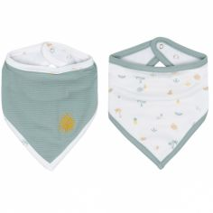 Lot de 2 bavoirs bandana Tropical Island