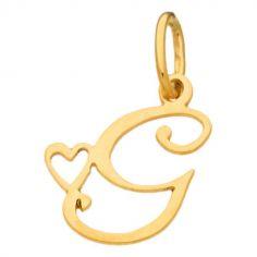 Pendentif initiale G (or jaune 750°)