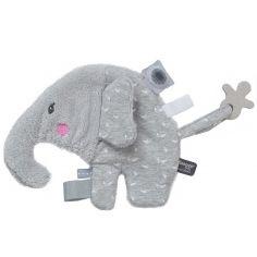 Doudou attache sucette Elly Elephant Lovely Grey (20 cm)