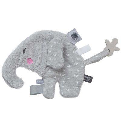 Doudou attache sucette Elly Elephant Lovely Grey (20 cm) Snoozebaby