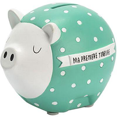 Tirelire cochon Hector turquoise  par Amadeus Les Petits
