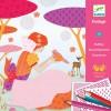 Kit de coloriage crayons à frotter Les robes de Louna  par Djeco