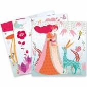 Kit de coloriage crayons à frotter Les robes de Louna - Djeco