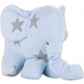 Peluche Eléphantou Star bleu ciel et gris (30 cm) - Baby's Only