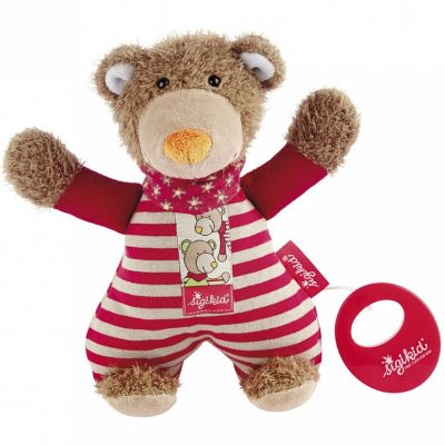 Peluche musicale ours rouge Wild and Berry Bears (22 cm) Sigikid