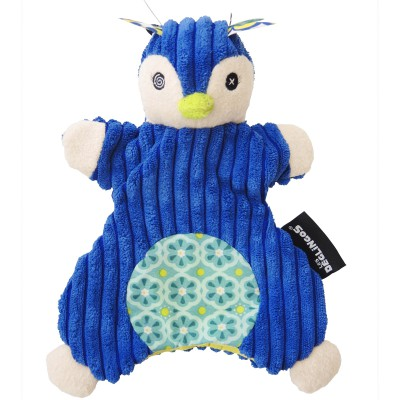 Doudou marionnette Frigos le Pingouin (23 cm) Les Déglingos