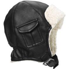 Bonnet chapka noir Aviator Black (6-12 mois)