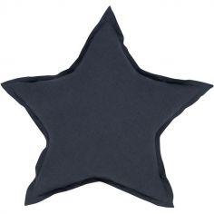 Coussin étoile gris graphite (45 cm)