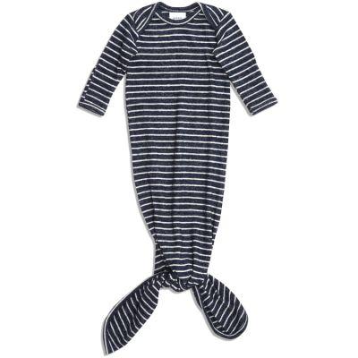 Body combinaison à nouer en maille navy stripe (78 cm)  par aden + anais