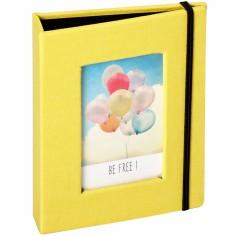Mini album pour photos polaroid jaune (20 photos)