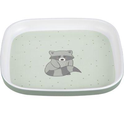 Assiette plate en mélamine About Friends raton laveur  par Lässig