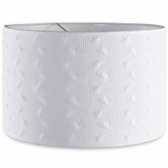 Abat-jour Cable Uni blanc (30 cm)