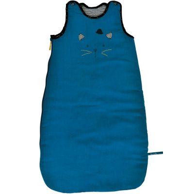 Gigoteuse chaude chat bleue Les Moustaches TOG 3,1 (70 cm)  par Moulin Roty