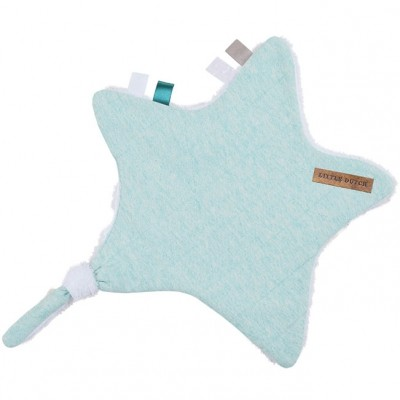 Doudou attache-sucette étoile Mint melange (30 x 35 cm) Little Dutch