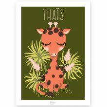 Affiche A3 Les Animignons la girafe (personnalisable)  par Djeco