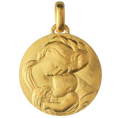 Médaille Madone du Caravage 18 mm (or jaune 750°)  par Monnaie de Paris