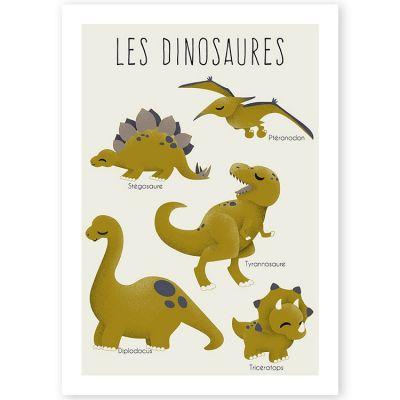 Affiche A4 Les Dinosaures  par Kanzilue