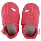 Chaussons bébé en cuir Soft soles Cerise rouges (3-9 mois) - Bobux