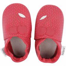 Chaussons bébé en cuir Soft soles Cerise rouges (3-9 mois)  par Bobux
