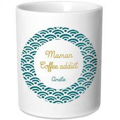 Mug Fête des Mères Eventail bleu (personnalisable)
