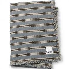 Couverture en coton froissé Sandy stripe (75 x 100 cm)