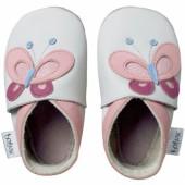 Chaussons bébé cuir Soft soles papillons (9-15 mois) - Bobux
