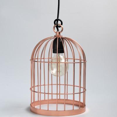 Lampe baladeuse cage à oiseau cuivre : FilamentStyle