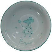 Coupelle en porcelaine souris verte personnalisable - Laetitia Socirat
