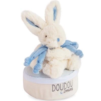Boîte à musique lapin bleu Bonbon Doudou et Compagnie
