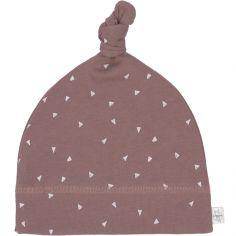 Bonnet en coton bio Cozy Colors triangle cannelle (7-12 mois)