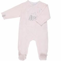 Pyjama chaud Poudre d'étoiles rose (6 mois : 67 cm)