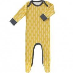 Pyjama léger Havre lemon (0-3 mois : 50 à 60 cm)