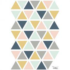 Planche de stickers triangle moutarde, gris et rose clair (A3)
