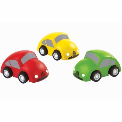Lot de 3 mini voitures  par Plan Toys