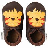 Chaussons bébé cuir Soft soles tigre (3-9 mois) - Bobux