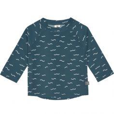 Tee-shirt anti-UV manches longues Vagues bleu (12 mois)