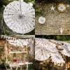 Rosaces blanches pois dorés (3 pièces)  par Arty Fêtes Factory