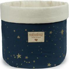 Panier de toilette en tissu Panda Gold stella Night blue (20 x 24 cm)