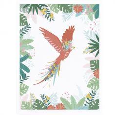 Affiche encadrée L'envol du perroquet (30 x 40 cm)