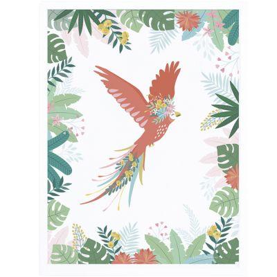 Affiche encadrée L'envol du perroquet (30 x 40 cm)  par Lilipinso
