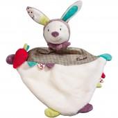 Doudou plat lapin Tinoo (34 cm) - Sauthon Baby Déco