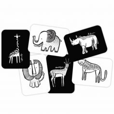 Cartes imagier pour bébé Safari