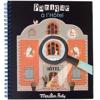 Livre loupe magique Panique à l'hôtel  par Moulin Roty