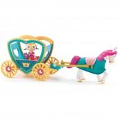 Poupée de plastique Princesse Alycia & ze caleche (11 cm) - Djeco