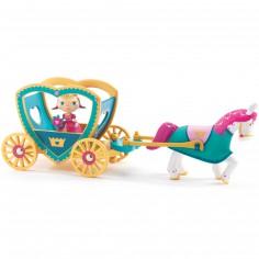 Poupée de plastique Princesse Alycia & ze caleche (11 cm)