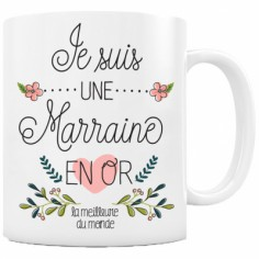 Mug Marraine en or