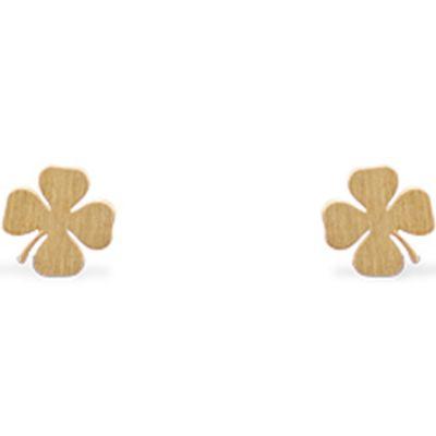 Boucles d'oreilles Life trèfle de vie (vermeil doré)  par Coquine